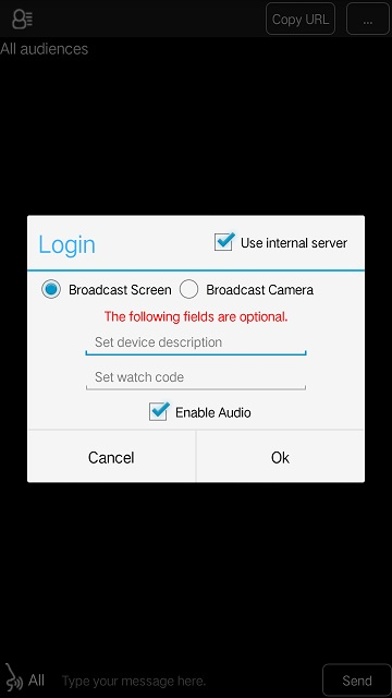 Screen and Video Broadcast for Android
